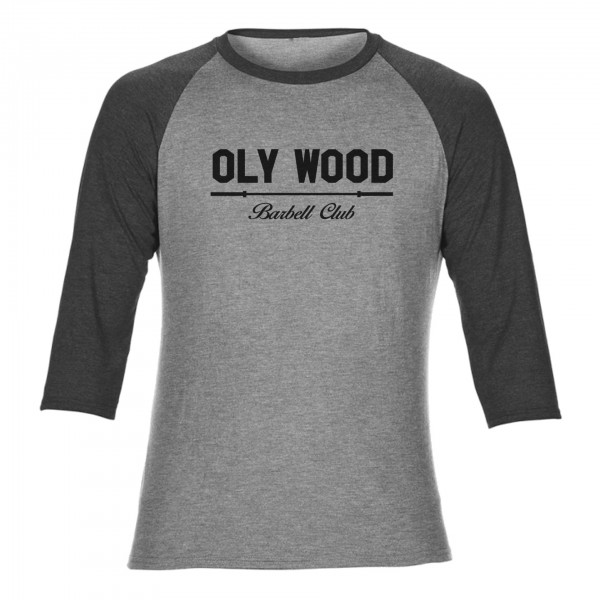 Go Heavy Oly Wood - Vintage Baseball Shirt  - grau