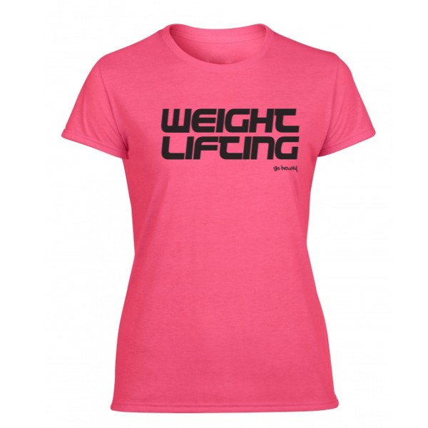 Go Heavy Damen Weightlifting Shirt - rosa