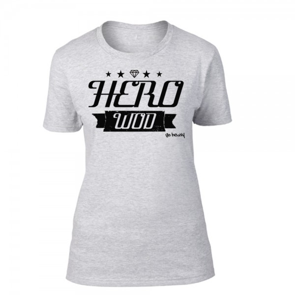 Go Heavy Hero Wod Damen Shirt - grau