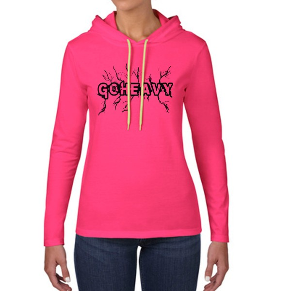 Go Heavy High Voltage - Damen Longsleeve Hoodie - pink