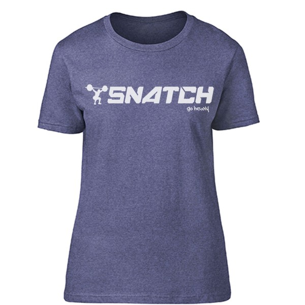 Go Heavy  Snatch - Damen Shirt - heather blue