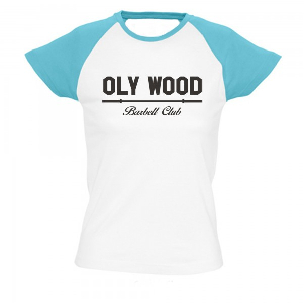 Go Heavy Oly Wood - Damen Baseball Shirt - weiß/blau