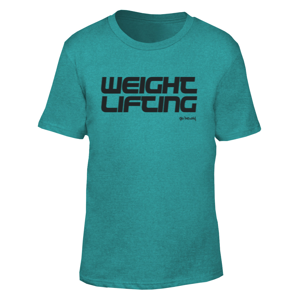 8f2bc7856040 Go Heavy Weightlifting- Herren Shirt - heather green   Go Heavy Apparel
