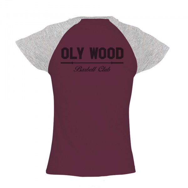 Go Heavy Oly Wood - Damen Baseball Shirt - rot/grau