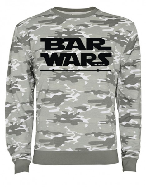 Go Heavy Camouflage Herren Sweatshirt - Bar Wars