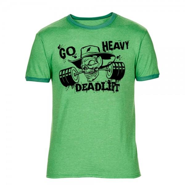 Go Heavy Herren Shirt - Deadlift - heather green