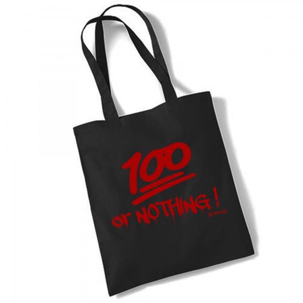 Go Heavy 100% or Nothing! - Gym Jutebeutel - schwarz