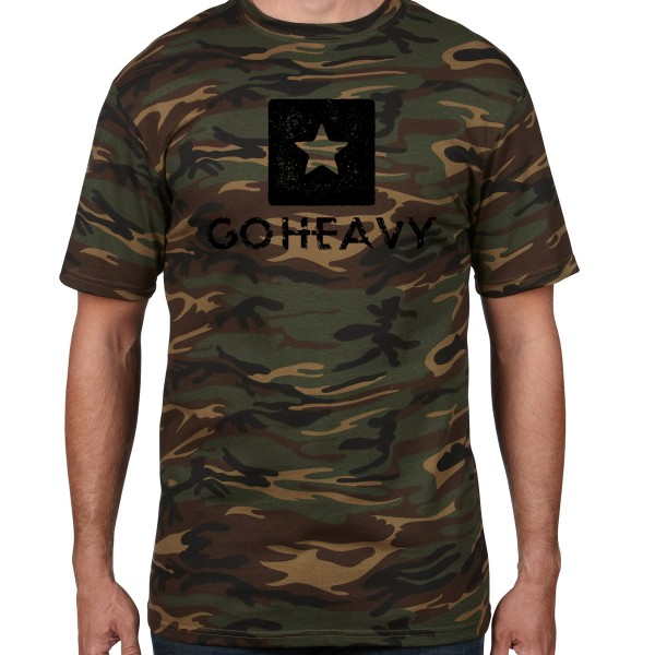 Go Heavy Big Star - Herren Shirt - camouflage