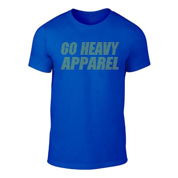 Go Heavy Herren Shirt - Stripes - blau