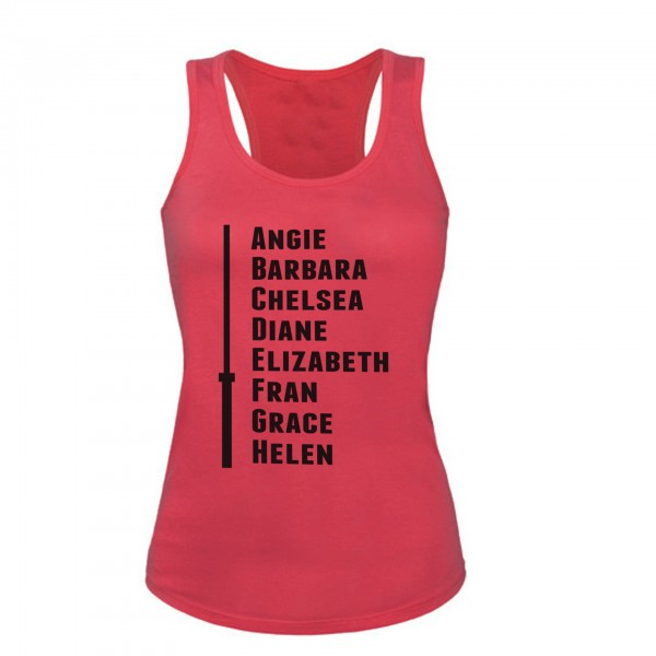 Go Heavy The CrossFit Girls:Angie,Babara... - Damen Tank Top - fuchsia
