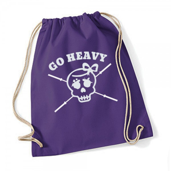 Go Heavy Girly Skull Gym Bag - violett