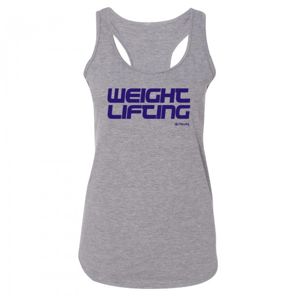 Go Heavy Weightlifting Damen Tri-Blend Tank Top - grau