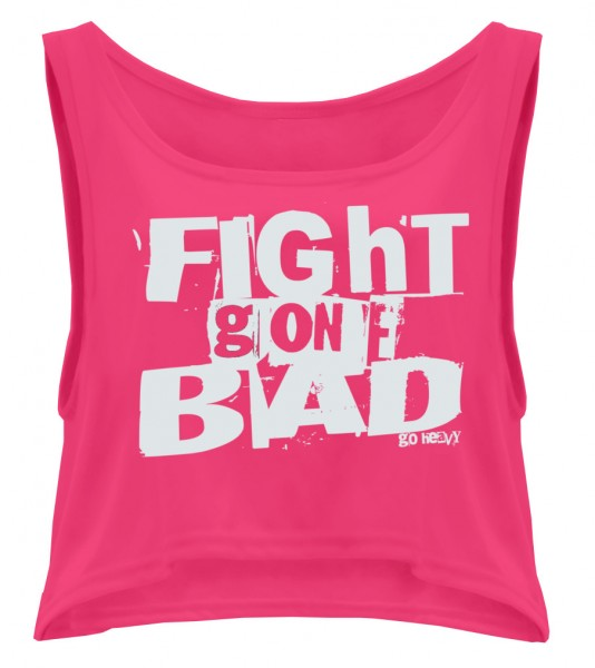 Go Heavy Damen oversized Tanktop - Fight Gone Bad pink