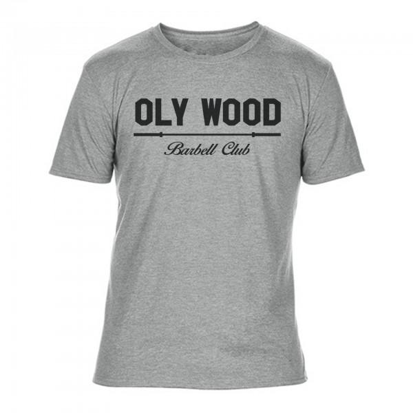 Go Heavy Oly Wood Barbell Club – Herren Shirt – grau